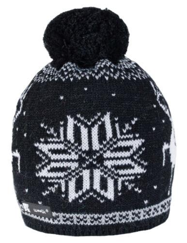 Unisex Kinder Strickmütze Hut Kappe Winter Wurm Mädchen Jungen Bubble
