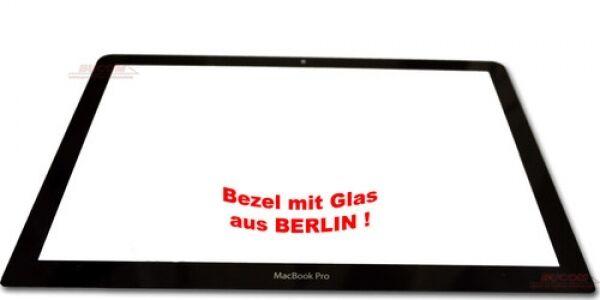 "Apple Macbook pro 13,3 ""Bezel A1278 Pantalla Delantero Cristal Negro + Adhesivo"