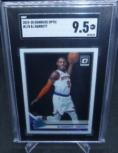 2019-20-Panini-Donruss-Optic-RJ-Barrett-Rookie-Card-Graded-SGC-Mint-9-5-KNICKS