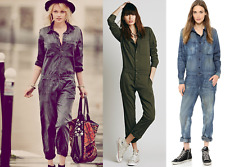 NSF for FREE PEOPLE Mechanic Jumpsuit in Army Green sz Small #p989