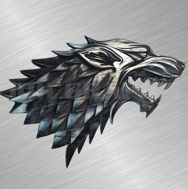 Winter is Coming Game Of Thrones Dire Wolf Stark Sticker Decal Vinyl Car Window White