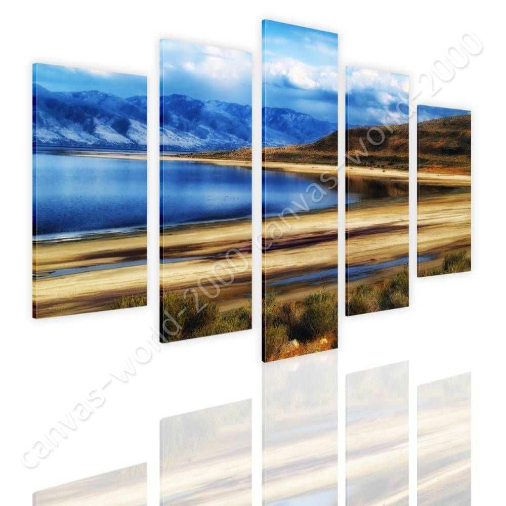 Utahs Salt Lake by Split 5 Panels   Canvas (Rolled)   5 Panels Wall art giclee