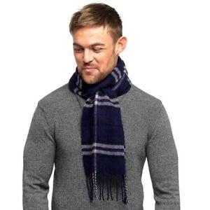 Mens-Tom-Franks-Long-Scarf-Soft-Brushed-Scarves-Check-or-Herringbone-Pattern