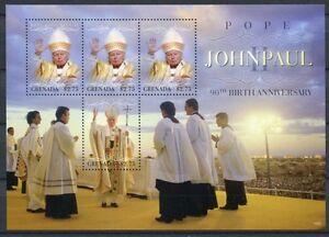 Grenade 2010 Le Pape Jean-paul Ii. Pope John Paul 6305-6306 Tamponné Neuf Sans Charnière