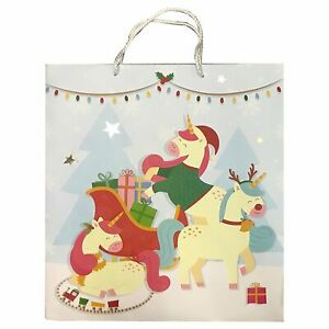 Cute Christmas Pictures.Details About Cute Christmas Animals Gift Bag Extra Large Xmas Festive Friends