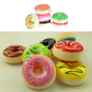 2pcs-Elasticity-Squeeze-Stress-Reliever-Soft-Doughnut-Scented-Slow-Rising-Toy-HF
