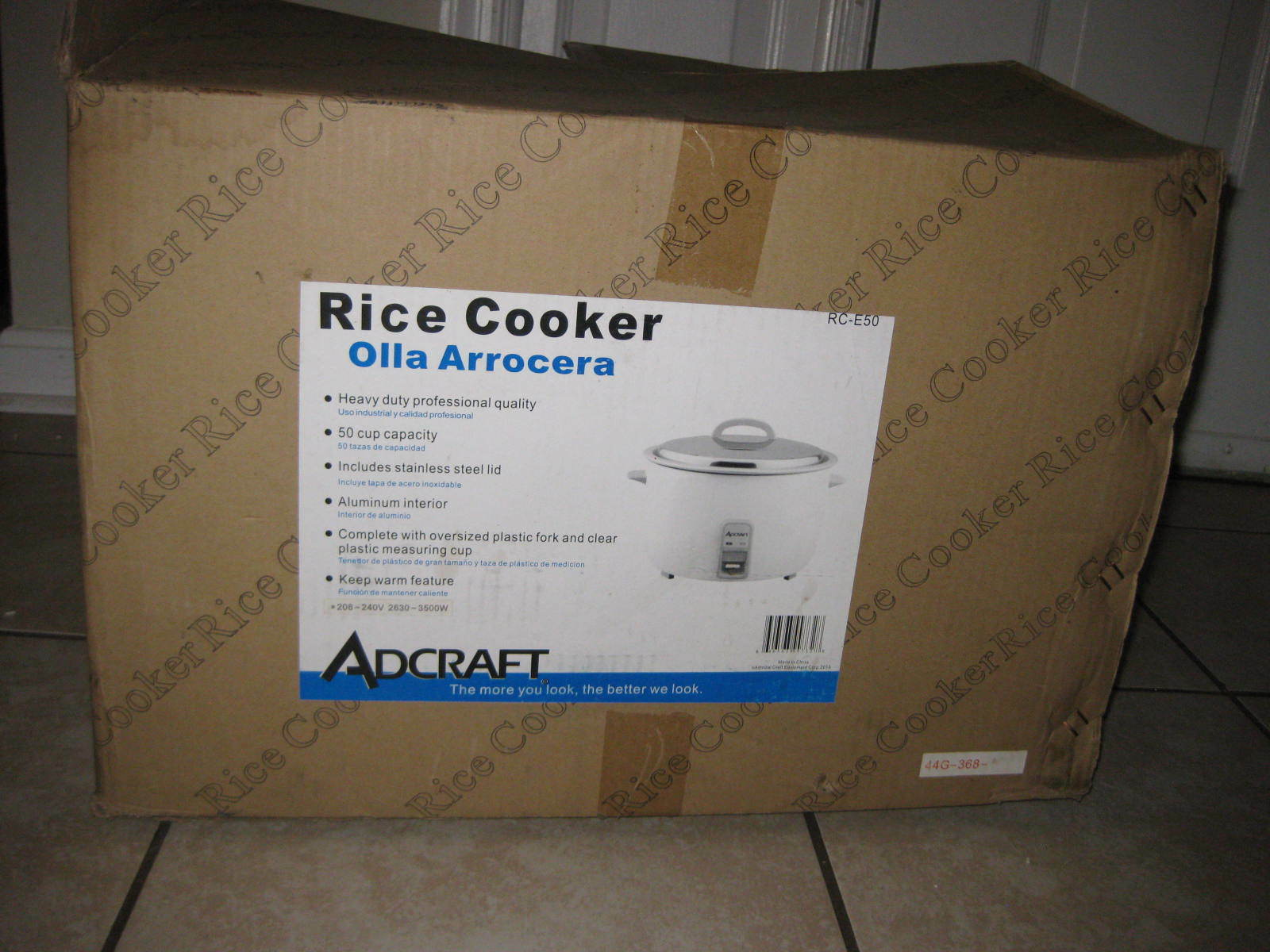 Admiral Craft RC-E50 50 Cup Electric Rice Cooker, 208 240v, 2630-3500W,Brand New