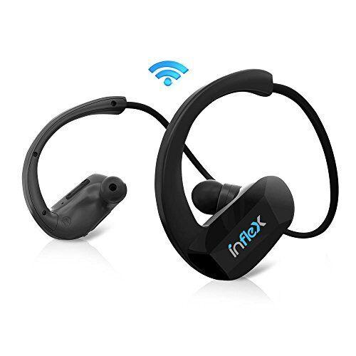Pyle InFlex 2-in-1 Waterproof Bluetooth MP3 Player Headphones -PSWP9BTBK