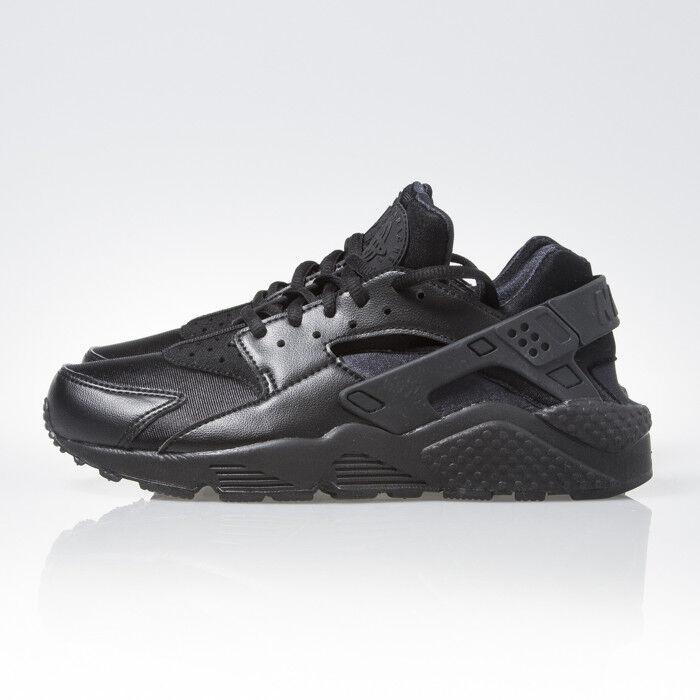 Nike Air Huarache Run Triple Noir Femme Running Chaussures Sneakers 634835 012 New