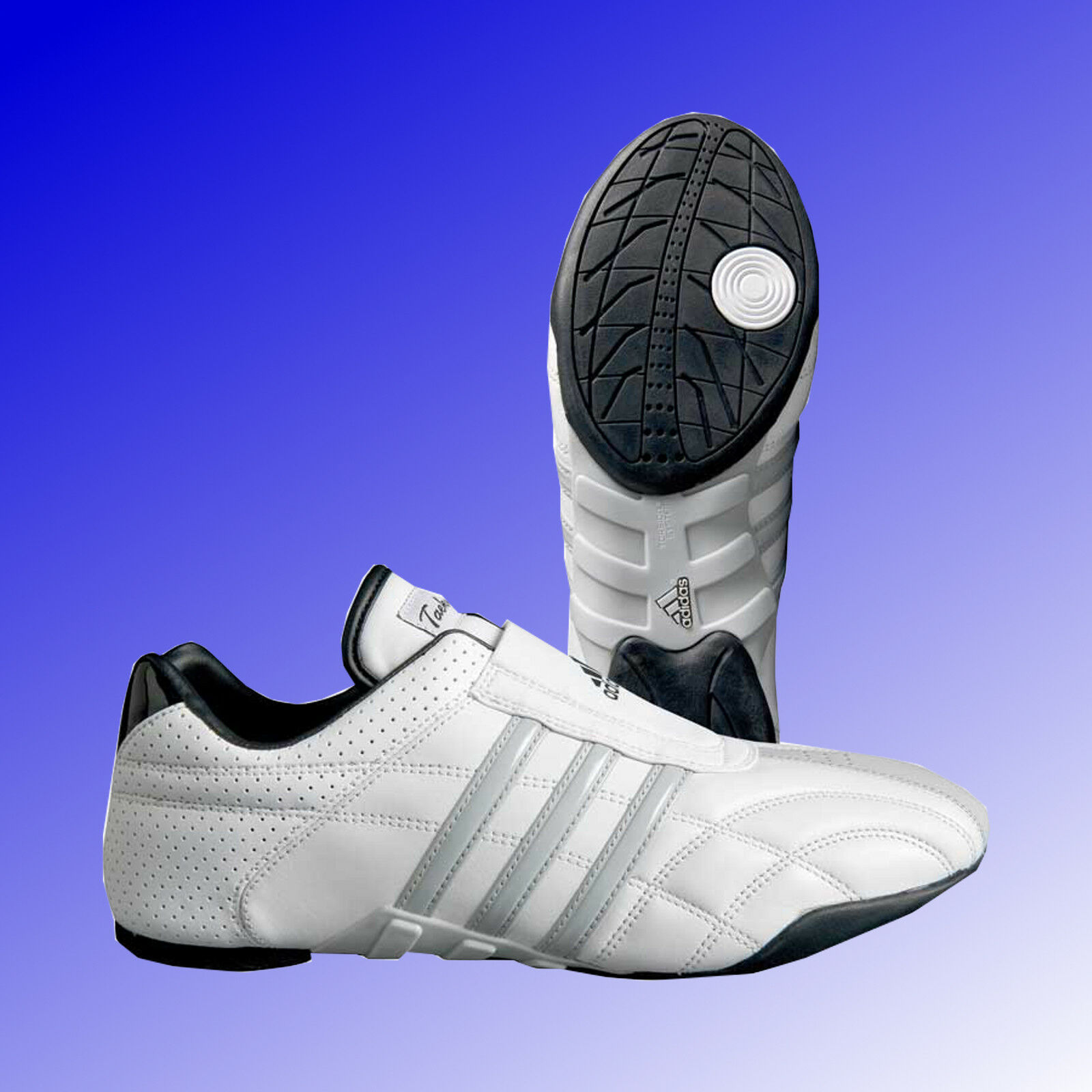 Adidas® Schuhe Adilux Taekwondo TKD Kampfsport Schuhe Adidas® Sneaker weiß grau Gr. 36 - 48 0b1702