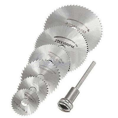 New HSS Circular Saw Disc Set Mini Drill Rotary Tool Cutting Blade Kit