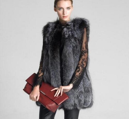 Luxury Vest Jacket Promotion Womens Fox Fur Coats Parka Outwear Warm Casual New