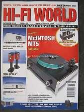 Hi-Fi World October 2016 McIntosh MT5 Entotem Class A Plato Luxman DA-250 Sopra