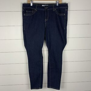 Torrid Denim Womens Dark Wash Plus Size 16 Short Skinny Zipper Fly Jeans