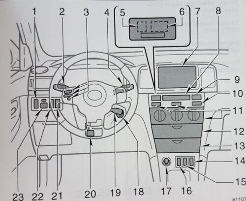 Cabe FORD FOCUS MK1 ST170 Blanco 54-SMD LED 12v Bombillas De Luz Lateral De Estacionamiento