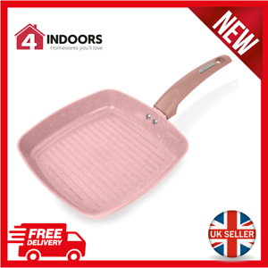 Tower T80336RS 25cm Non Stick Grill Pan with Ceramic Coating Rose Pink New
