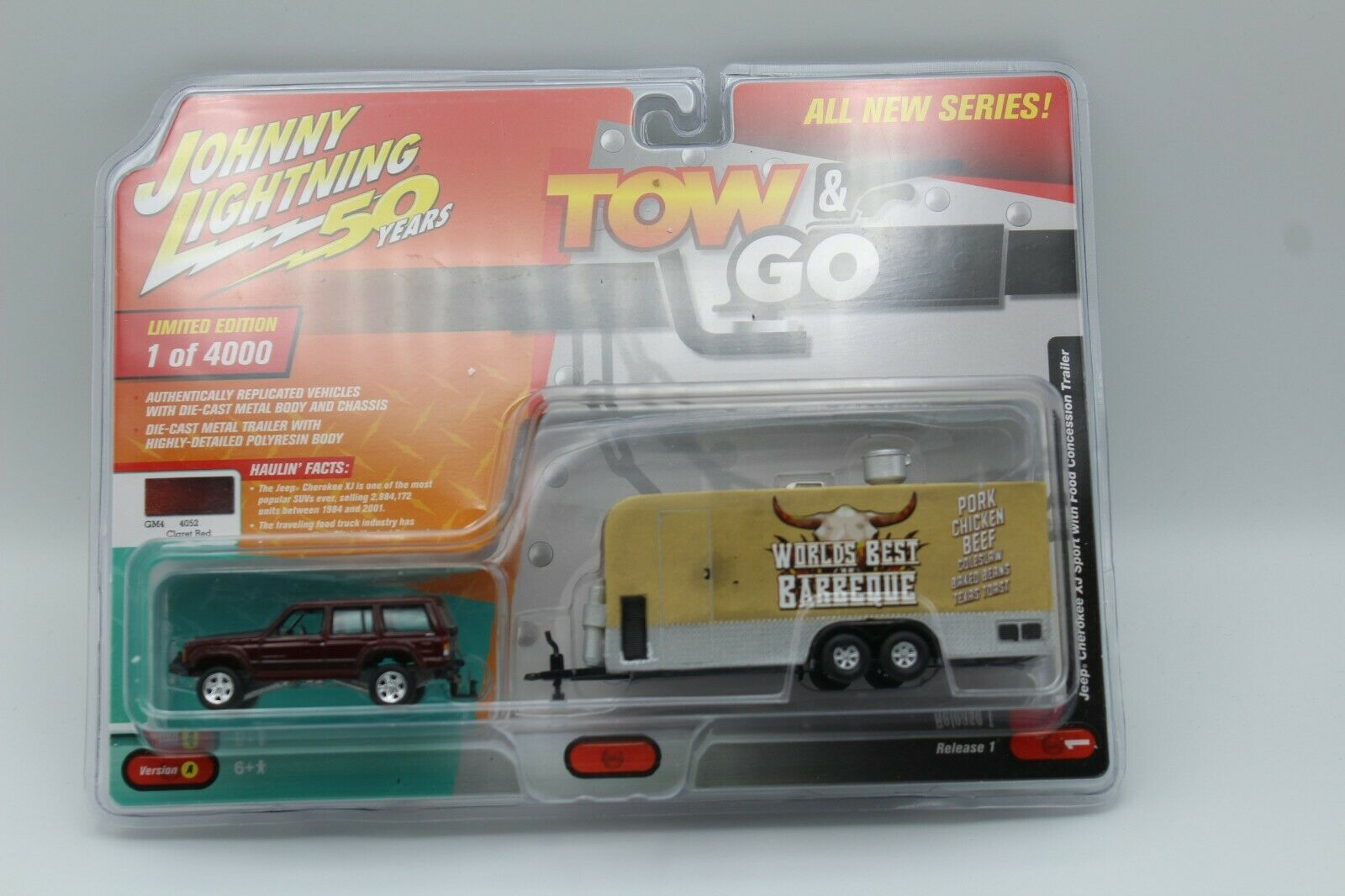 GRAY /& FOOD TRAILER 1//64 JOHNNY LIGHTNING JLTG001 B JEEP CHEROKEE XJ SPORT MET