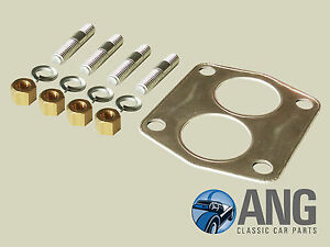 TRIUMPH-TR4A-TR5-amp-TR6-EXHAUST-DOWNPIPE-TO-MANIFOLD-STUD-NUT-amp-GASKET-KIT
