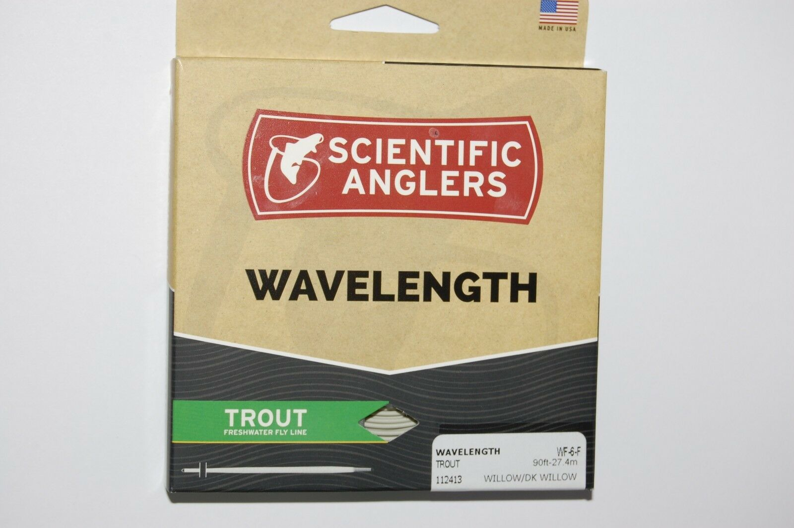 Scientific anglers wavelongueur trout freshwater fly line wf-6-f wilFaible dk 90ft