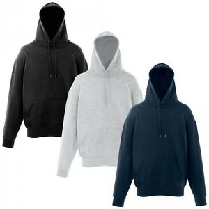 Fruit-of-the-Loom-Unique-Hoodie-Hooded-Sweater-Double-Hood-S-M-L-XL-XXL