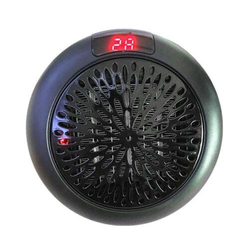 900W Mini Portable Fan Heater Plug-in Electric Wall-outlet Furnace Warmer Travel