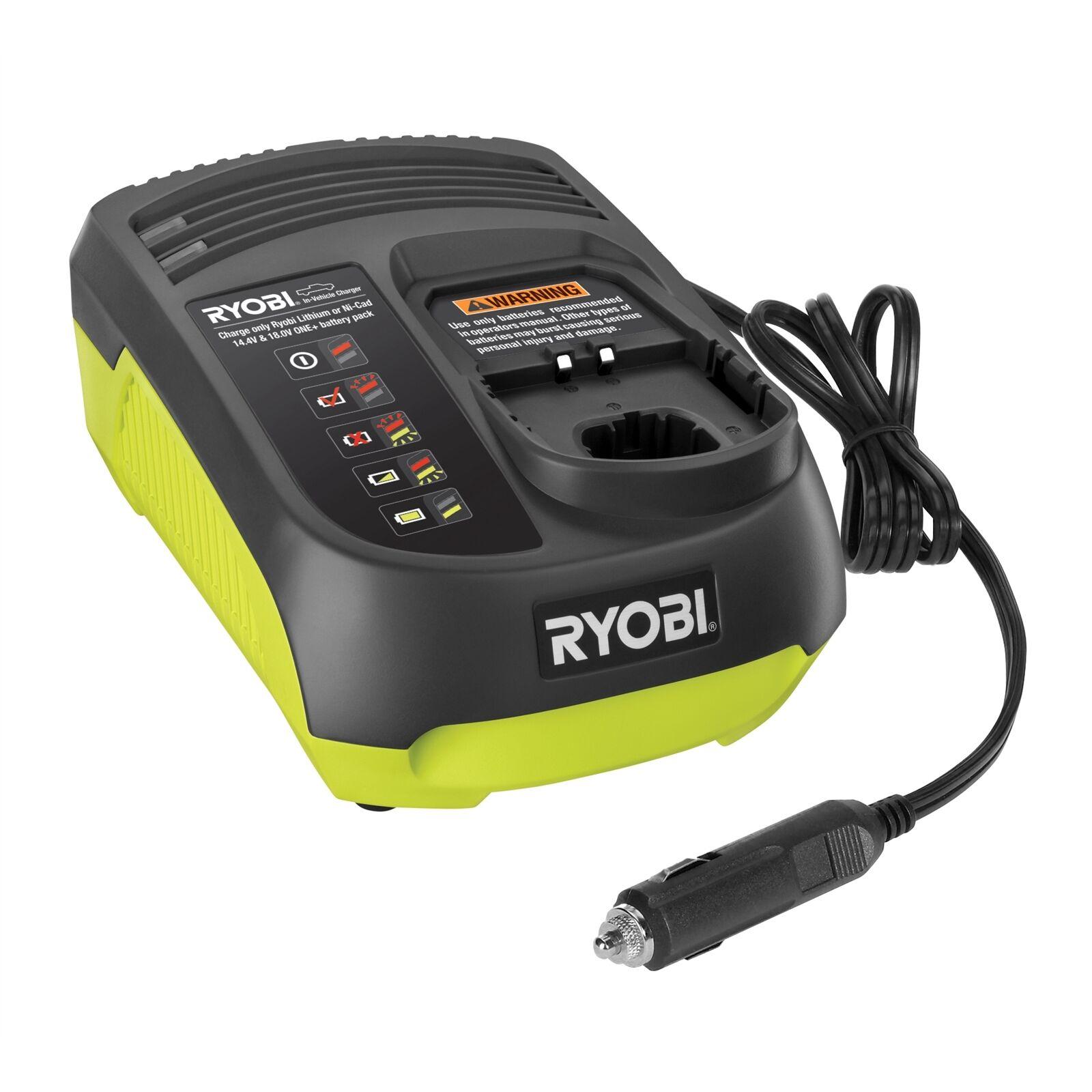 Ryobi ONE+ CAR BATTERY CHARGER 14.4 -18V Dual-Chem Niedrig Voltage Alarm LED Light