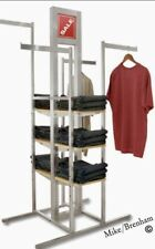 Alta 4 Way Upscale Cloths Rack Shelving Store Fixtures Shelves Adjustable