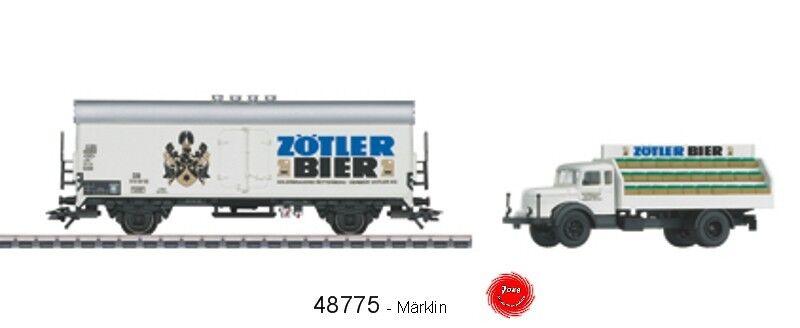 Märklin 48775 Carro Refrigerante Birra DB con Modello Camion Krupp Mustang #