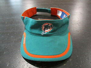 b4d8ef26 Reebok Miami Dolphins Visor Hat Cap Green Orange NFL Football ...