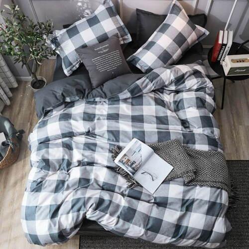 Simple Style Bedding Set Bed Linen Duvet Cover Flat Sheet Full King Single Queen