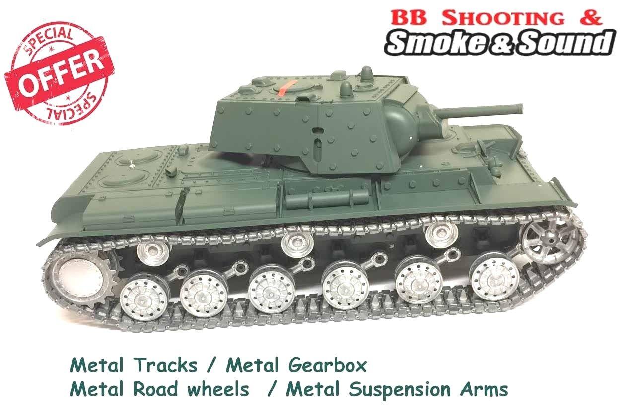 Heng Long Radio Remote Controlled  KV-1 1 16 RC Tank Pro ALL METAL Road Wheels