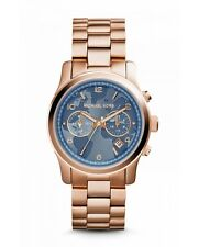 NEW MICHAEL KORS MK5972 HUNGER STOP 100 ROSE GOLD WATCH - 2 YEAR WARRANTY