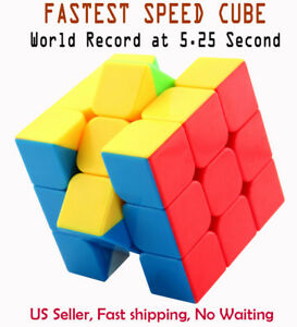 Fastest-Stickerless-Speed-cube-3x3-magic-twist-puzzle-Set-World-Record-5-25s