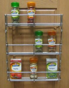 tiered spice racks for kitchen cabinets 3 tier h duty spice rack chrome kitchen cabinet door 9463