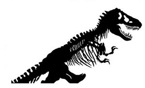 Details about TYRANNOSAUR T-REX DINOSAUR SKELETON WALL DECAL STICKER