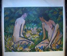 otto mueller EXPRESSIONISMUS 2 Frauen Akt/Erotik  GROSS origin. DIE BRÜCKE