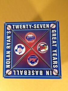1993 Nolan Ryan Chevron Fotoball 27 Great Years In Baseball  In Original Box
