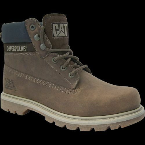 Cat caterpillar colorado zapatos top botas cuero genuino Dark beige top zapatos oferta a87058