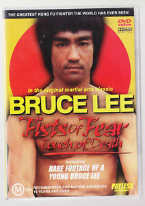 LIKE-NEW-Fists-of-Fear-Touch-of-Death-1980-Rare-Footage-of-Bruce-Lee-DVD-R4