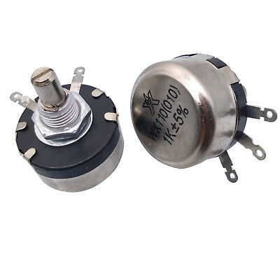 2 x Full Size 220 Ohm 1W 1Watt Wire Wound Potentiometer Pot
