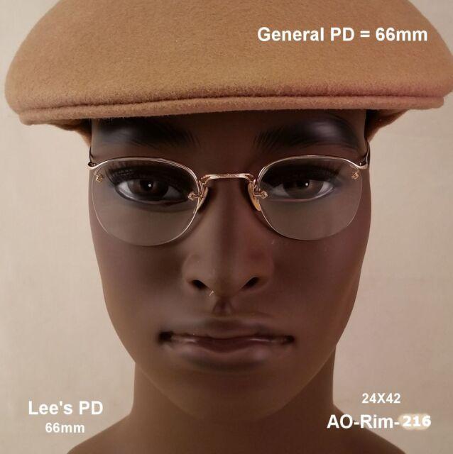 American Optical CROSSLEY Rimway  12k Gold Fill - True Antique Eyeglasses & Case