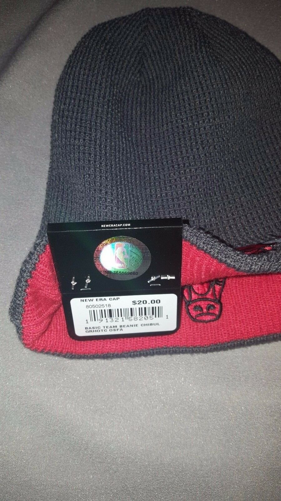 CHICAGO BULLS NEW ERA BASIC REVERSIBLE ADULT BEANIE MENS ADULT REVERSIBLE HAT GREY 80502518 NEW 0531a9