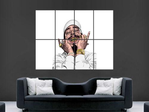 POST MALONE POSTER USA RAPPER COMIC STYLE ART WALL LARGE IMAGE