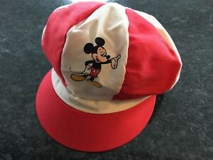 a1e846bf4c1 Vintage Disney World Mickey Mouse Hat Cap Funky 70 s Disco RARE Red ...
