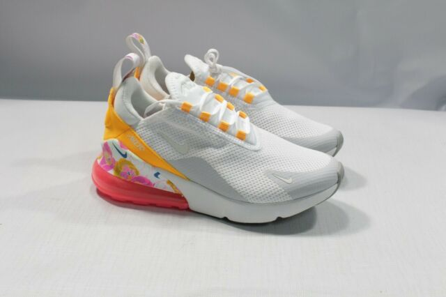 Size 9.5 Women's Nike Air Max 270 SE White Multicolor Floral Ar0499 101 Running