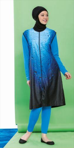 Swimwear Badeanzug H- 225 Hasema Burkini Tesettürmayo Hijab Bademode