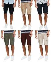 Threadbare New Men's Plain Cargo Combat Bermuda Shorts Summer Casual Cotton