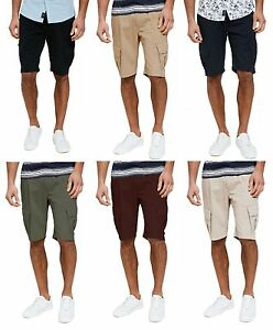 0c5d09c8da9d Threadbare New Men s Plain Cargo Combat Bermuda Shorts Summer Casual ...