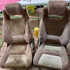 1986 1987 Toyota Celica Gts St162 Oem Brown Cloth Front Seats Excellent Shape