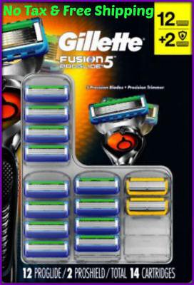 Gillette Fusion5 Proglide 14 Cartridges  12 Proglide + 2 Proshield - Fusion 5